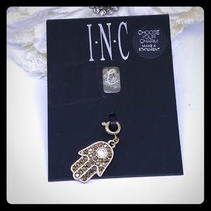 INC Gold Crystal Hamsa Charm [JW-45]